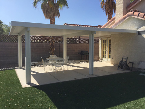 Solid Patio Cover with Two Beams
