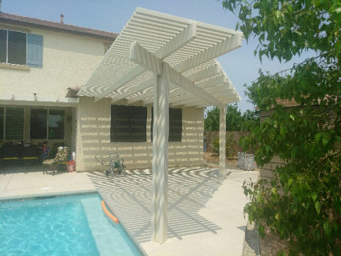 Triangle Shaped Lattice with Pool